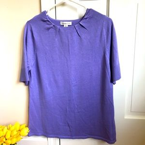 Coldwater Creek NWT Silk Blend Pleated Sweater L